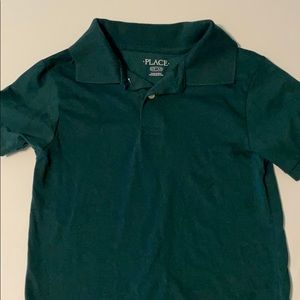 5/$25! Boys Green Polo Sz 6